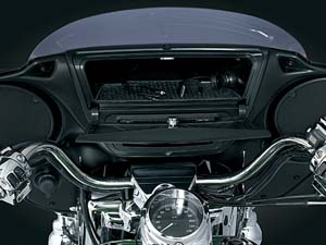 Upfront storage for your Road King!