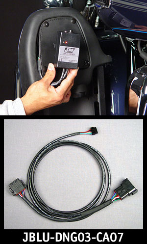 Adapter Cable for Harley Application, top photo also show dongle