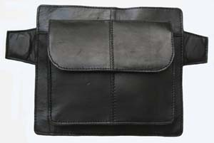 Magnetic leather tank bag