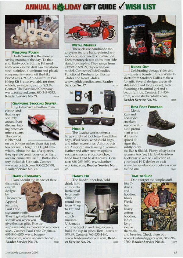 Metal Models in Ironworks Magazine