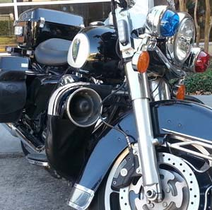 Support the H-D  Police Bike