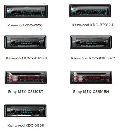 Available Sony & Kenwood Decks