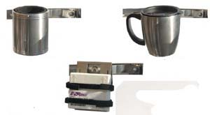 Chrome Cup or Coffee Cup or with Gadget Carrier